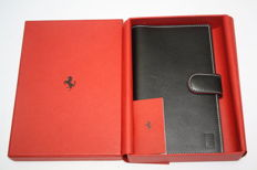 Original Ferrari brown leather business card organiser with BOX