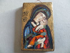 Icon made of enamelled ceramic by Michel Folsheid