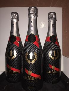 G.H. Mumm Cordon Rouge Brut with F1 Formula - 3 bottles (75cl)