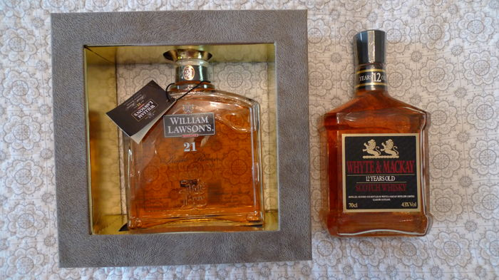 2 bottles - William Lawson's 21 years old & Whyte and Mackay 12 years old