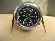 Pilot's clock - chronometer for the MiG-23 supersonic fighter jet - Vintage (СССР/USSR). 20th century.