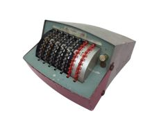 Vintage counting machine - 7 rows - France - Middle 20th century