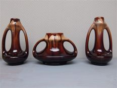 Thulin - 3-piece set with dripping glaze