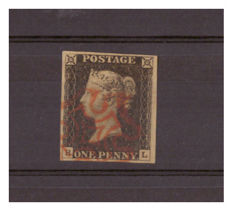 Great Britain Queen Victoria 1840 - 1d black (margin 4, table 3)