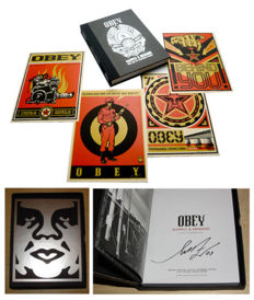 Shepard Fairey (OBEY) - Supply & Demand Print + Book Boxed Set