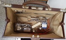 Doctor's bag with medical instruments