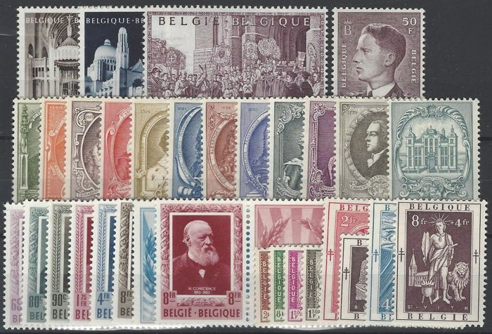 Belgium 1952 - Full Year - OBP 876/907 and BL30