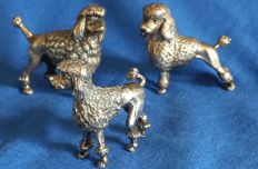 Poodle dogs in massive silver, Italy, 20th century