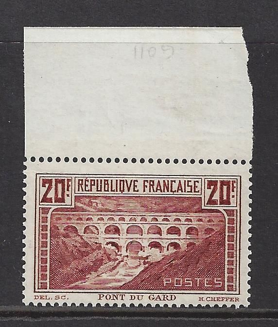 France 1929 - Monuments and sites - Yvert 262A.