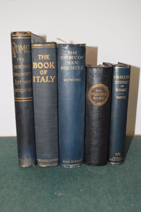 Lot with 5 Books about Rome - 1889/1930