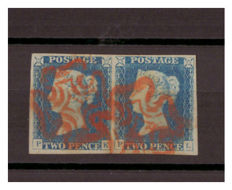 Great Britain Queen Victoria 1840 - 2d blue (pair)