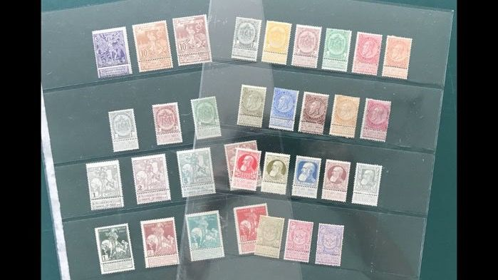 Belgium 1893/1910 - Composition including 1 Fr Fine beard and 50c Coarse Beard - OBP 53/91