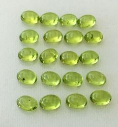 Lot of Peridot Oval Cabochons - 20.28ct (20)