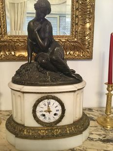 French table clock, produced by J.B. Marchand, 1850