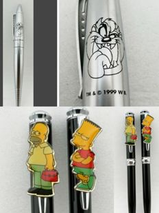 Three Matt Groening TM & @  1997/99 W B.  -- ballpen
