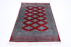 Beautiful Buchara carpet genuine handwoven Oriental carpet 1.84 × 1.28 beautiful top condition new