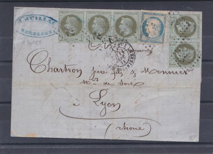 France 1871/1900 – 4 letters with one from september 1871