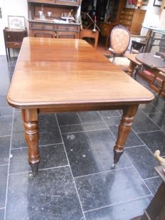 Victorian 19th century English mahogany side winged table