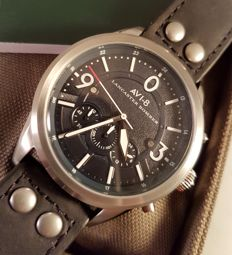AVI-8 Lancaster Bomber Chronographs – never worn men's watch – in original box with papers – 2017