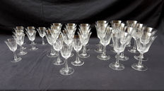 Lot of fine french crystal glasses