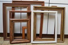 Nine various wooden painting frames - Belgium - 2nd half of the 20th century