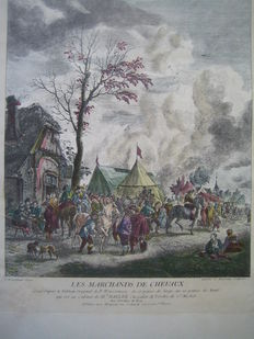 Six colour engravings by Jean Moyreau (1690-1762), after Philips Wouwerman (1619-1668)
