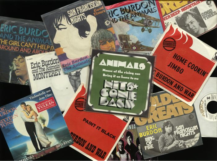 "The Animals and Eric Burdon solo - Lot of 12 great singles incl. ""House of the rising sun"", ""Monterey"", ""Ring of fire (promo)"", ""Paint it black"", ""San Franciscan nights"" and many more"
