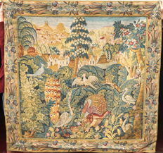 An machine woven Verdure Tapestry, France, ca. 1900