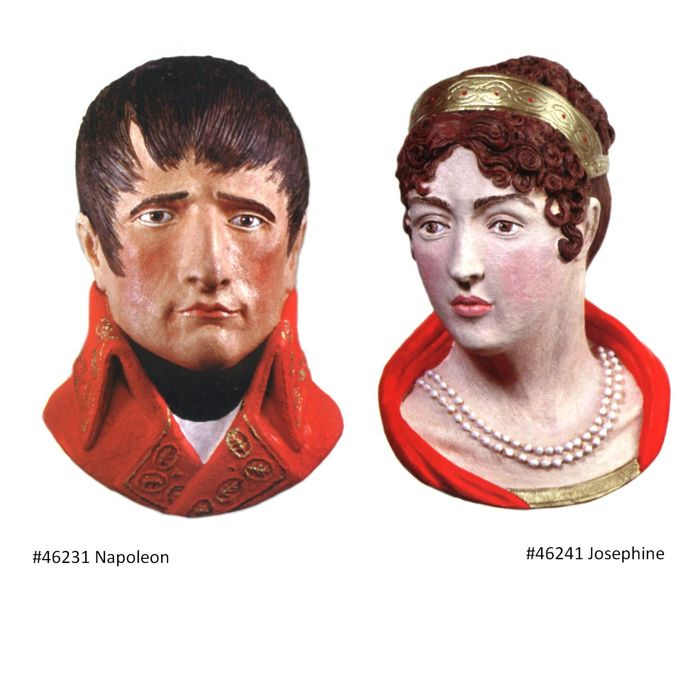 Napoleon and Josephine, head wall hangings, UK, Lakeland Studios