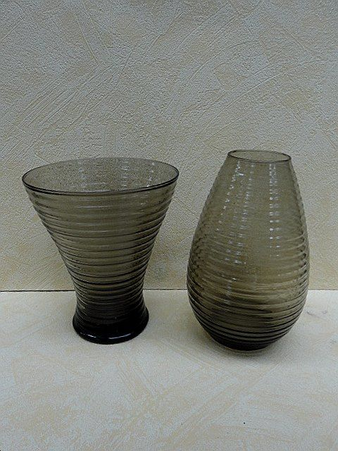 A.D. Copier (Leerdam) - two ribbed vases