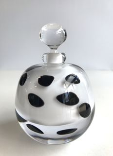 Maxence Parot - Unique bottle in white Opaline (signed/dated)