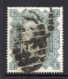 Great Britain 1878 QV - 10/- Greenish Grey, Stanley Gibbons 128