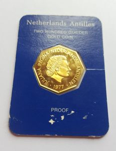 Netherlands Antilles - 200 guilders 1977 Juliana - Gold in coffer