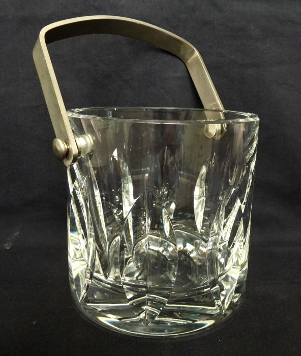 St Louis crystal ice bucket Jersey pattern - signed, France, second half 20th century