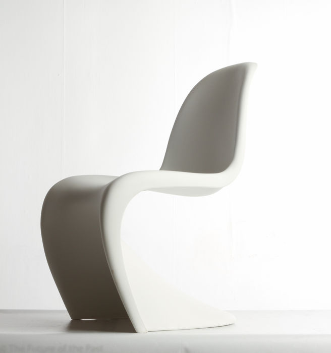 verner panton for vitra white panton chair catawiki. Black Bedroom Furniture Sets. Home Design Ideas