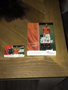 The Netherlands - 5 Euro 2017 'Johan Cruijff' in coin card, and 5 Euro 'Johan Cruijff' - silver (2 items in total)