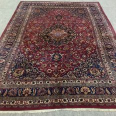 Large original Mashhad carpet, signed! 353 x 247 cm, around 1980