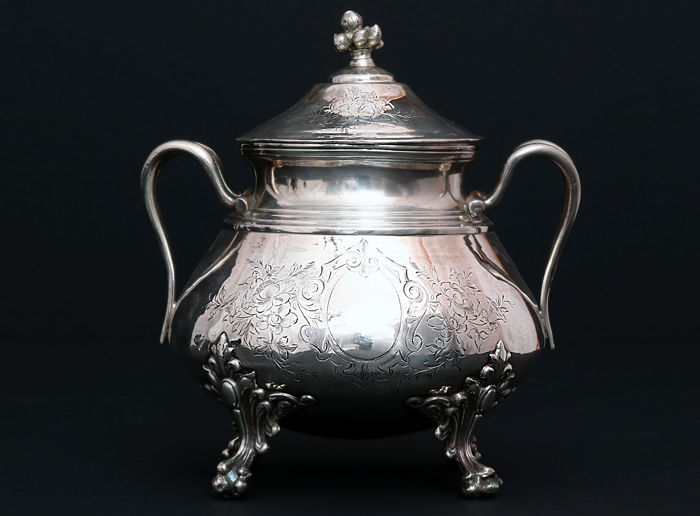 Sterling silver sugar bowl, Claude Doutre Roussel, Paris, about 1895