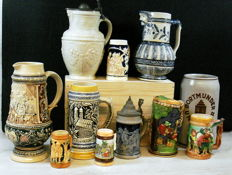 Collection of beer mugs 11 x