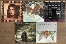"""Roger McGuinn of the Byrds: lot of five original lp's: """"Roger McGuinn"""" """"Peace on you"""" """"Roger McGuinn & band"""" """"Cardiff rose"""" and """"Thunderbyrd"""""""