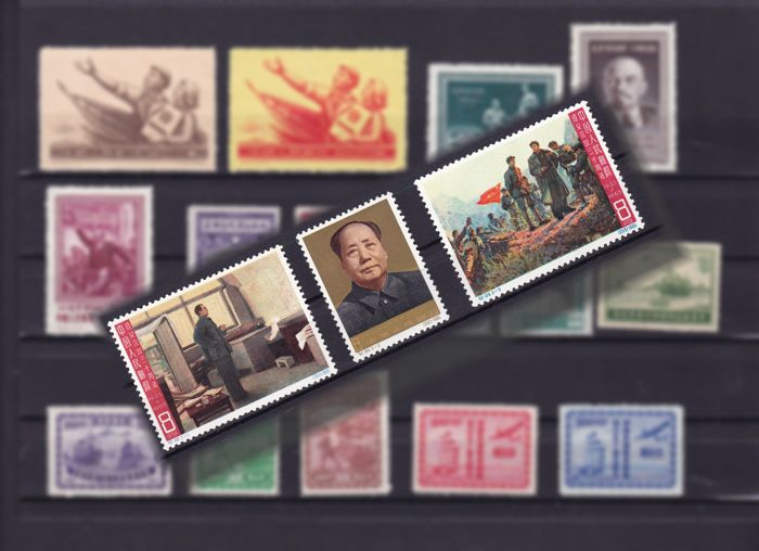 China 1950s/1960s - Composition on stock cards