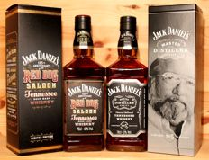 "2 bottles -  1. Jack Daniels 125th Anniversary of the Red Dog Saloon, 2017, incl. Box + 2. Jack Daniels Master Distiller No 5, ""Bobo"", 2x70cl"