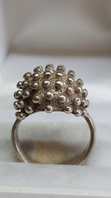 925 silver vintage women's ring made of spheres, no reserve!
