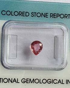 Pink Sapphire - 0.76 cts - No reserve price