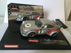Carrera Evolution-Slot Car - Escala 1/24 - Porsche 911 RSR Turbo Martini Racing 40 Jahre