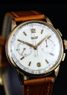 Tissot Vintage chronograph 18 kt rose gold - Men - Tissot - 1940s