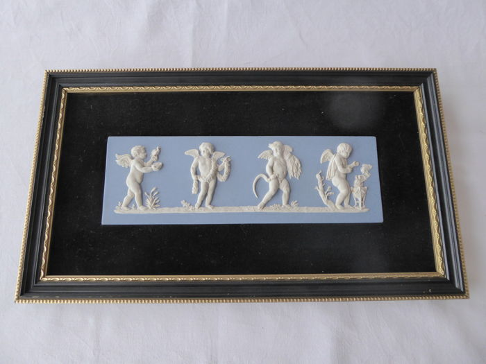 Wedgwood - Lady Templeton Four Seasons Jasper Ware plaque