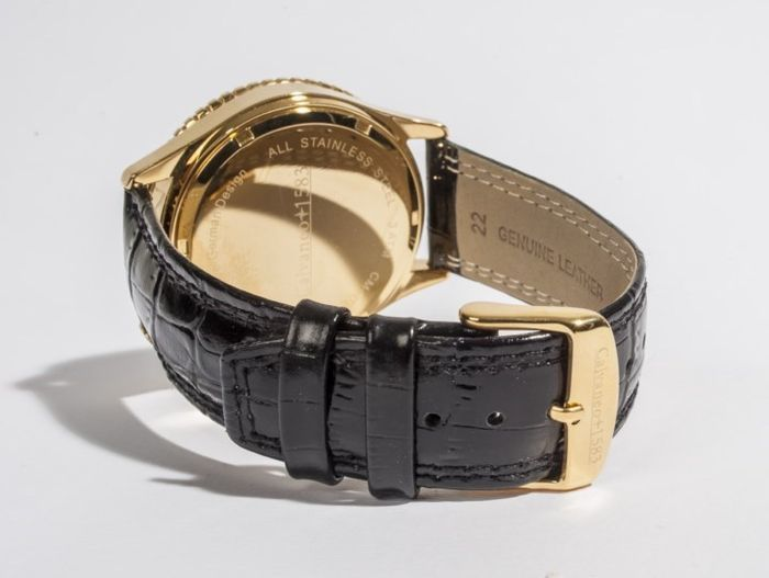 Calvaneo Defcon Diamond Gold Black Chronograph-verguld