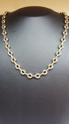14 yellow/white gold women's necklace - Size: 47 cm in length