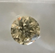 1.51 ct Round Brilliant  Fancy  Yellow SI2 AIG lab